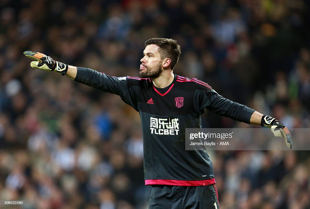 Ben Foster of West Bromwich Albion during the Barclays Premier League match between West Bromwich Albion and Aston Villa at The Hawthorns on January 23, 2016 in West Bromwich, England.