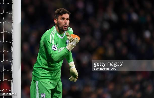 Ben Foster of West Bromwich Albion during the Premier League match between West Bromwich Albion and Newcastle United at The Hawthorns on November 28...