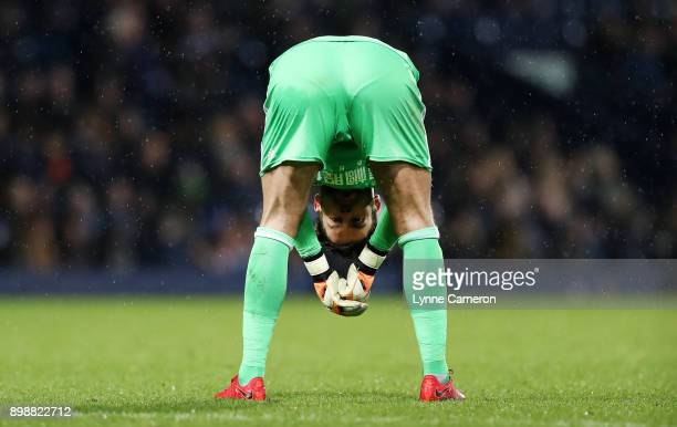 Ben Foster of West Bromwich Albion during the Premier League match between West Bromwich Albion and Everton at The Hawthorns on December 26 2017 in...
