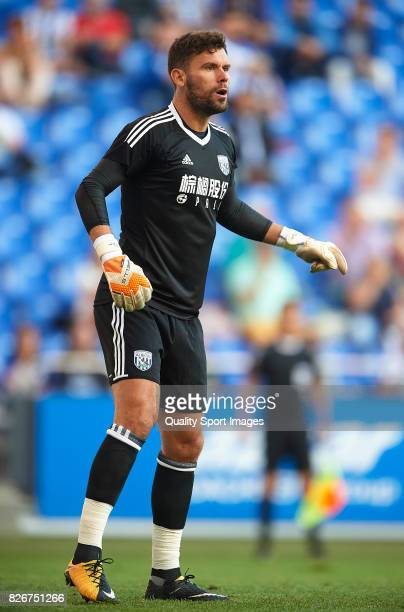 Ben Foster of West Bromwich Albion looks on during the Pre Season Friendly match between Deportivo de La Corua and West Bromwich Albion at Riazor...