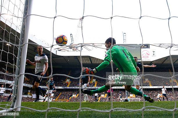 Ben Foster of West Bromwich Albion makes a save during the Premier League match between Tottenham Hotspur and West Bromwich Albion at White Hart Lane...
