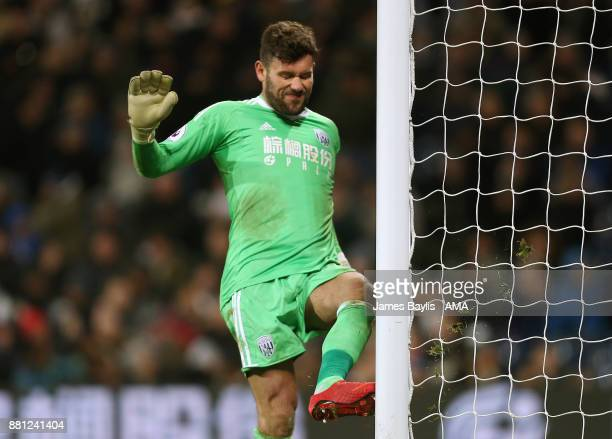 Ben Foster of West Bromwich Albion reacts after conceding a late goal during the Premier League match between West Bromwich Albion and Newcastle...