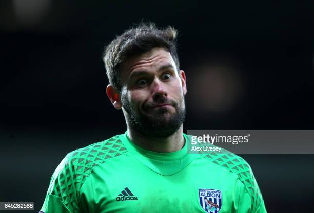 Ben Foster of West Bromwich Albion reacts during the Premier League match between West Bromwich Albion and AFC Bournemouth at The Hawthorns on...