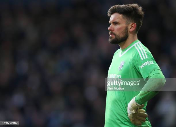 Ben Foster of West Bromwich Albion reacts following Huddersfield Town's second goal during the Premier League match between West Bromwich Albion and...