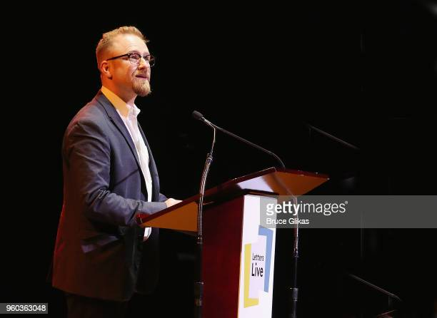 Ben Foster performs in the New York debut of the hit show 'Letters Live' at Town Hall on May 19 2018 in New York City