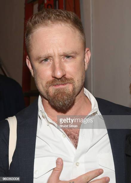 Ben Foster poses backstage at the New York debut of the hit show 'Letters Live' at Town Hall on May 19 2018 in New York City