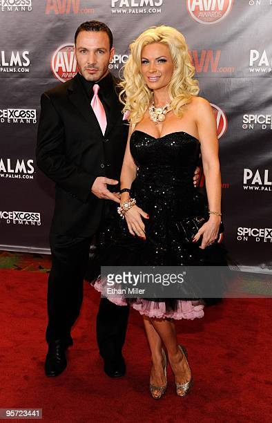 Ben Foxxx and adult film actress Diamond Foxxx arrive at the 27th annual Adult Video News Awards Show at the Palms Casino Resort January 9 2010 in...