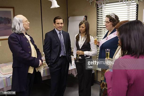 THE OFFICE Ben Franklin Episode 15 Aired 2/1/07 Pictured Andrew Daly as Ben Franklin Steve Carell as Michael Scott Rashida Jones as Karen Filippelli...