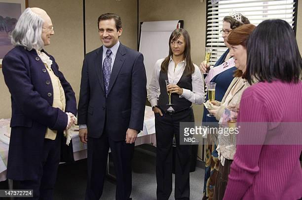 THE OFFICE Ben Franklin Episode 4 Aired Pictured Andrew Daly as Ben Franklin Steve Carell as Michael Scott Rashida Jones as Karen Filippelli Phyllis...
