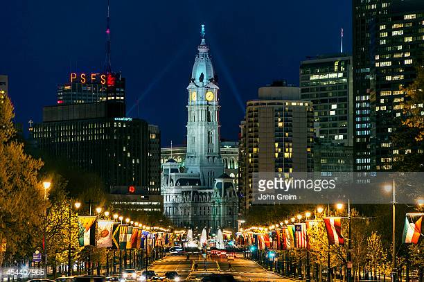 Ben Franklin Parkway and City Hall.