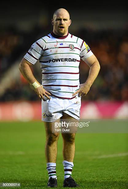 Ben Franks of London Irish looks on during the Aviva Premiership match between Harlequins and London Irish at Twickenham Stoop on December 5 2015 in...