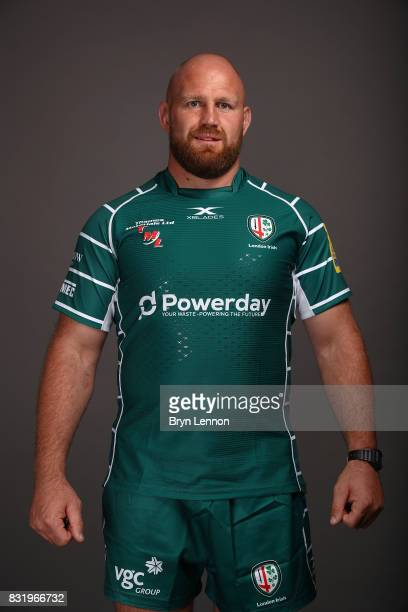 Ben Franks of London Irish poses for a portrait during the London Irish squad photo call for the 20172018 Aviva Premiership Rugby season on August 14...