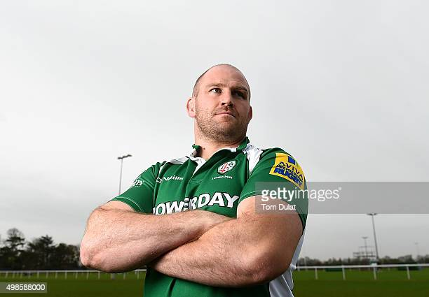 Ben Franks of London Irish poses for photos at Hazelwood Centre on November 24 2015 in Sunbury England
