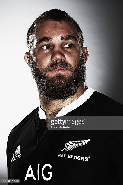 Ben Franks of the All Blacks poses during a New Zealand All Blacks portrait session on May 26 2014 in Wellington New Zealand