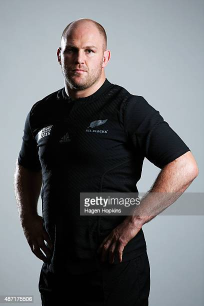 Ben Franks poses during a New Zealand All Blacks Rugby World Cup Squad Portrait Session on August 31 2015 in Wellington New Zealand
