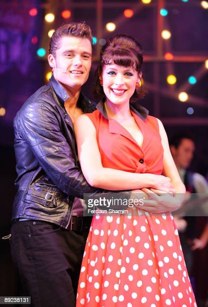 Ben Freeman and Jennifer Biddall perform during a photocall for Dreamboats and Petticoats as it transfers to the West End at The Savoy Theatre on...