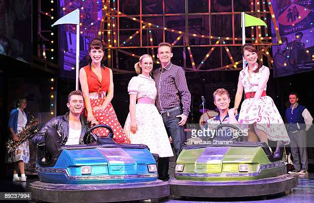Ben Freeman Jennifer Biddall Daisy WoodDavis Scott Bruton Emma Hatton and AJ Dean perform during a photocall for Dreamboats and Petticoats as it...