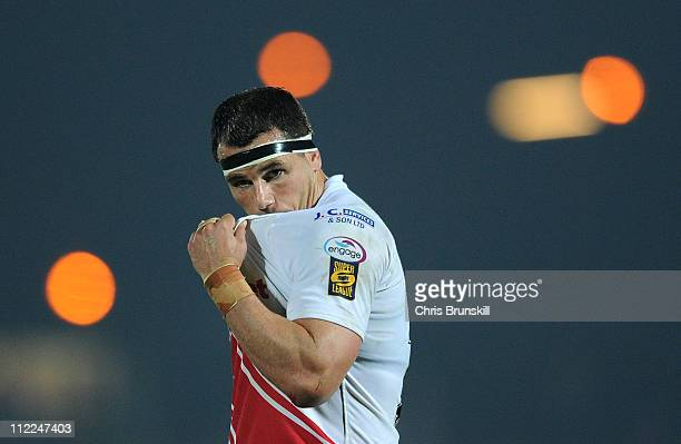 Ben Galea of Hull Kingston Rovers reacts during the Engage Super League match between Hull Kingston Rovers and Wigan Warriors at Craven Park on April...