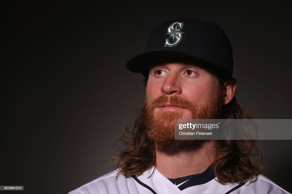 Ben Gamel #16 of the Seattle Mariners poses for a portrait during photo day at Peoria Stadium on February 21, 2018 in Peoria, Arizona.
