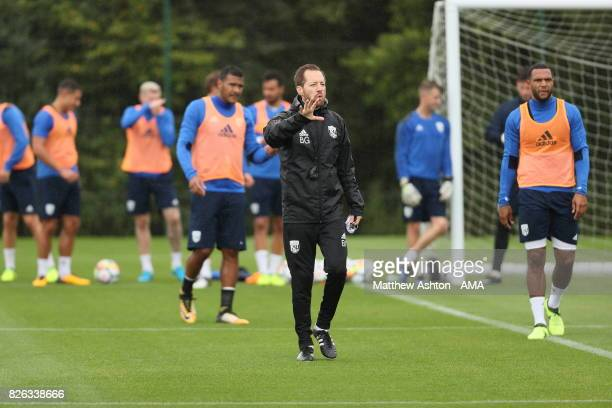 Ben Garner Assistant Head Coach of West Bromwich Albion during a training session on August 3 2017 in West Bromwich England