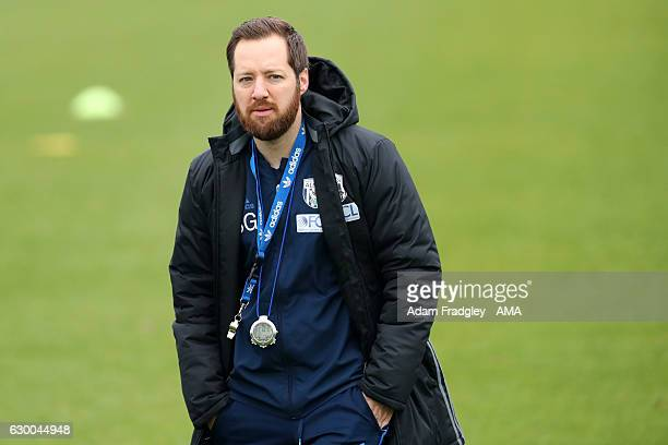 Ben Garner joint assistant head coach of West Bromwich Albion during a training session at the West Bromwich Albion Training Ground on December 15...