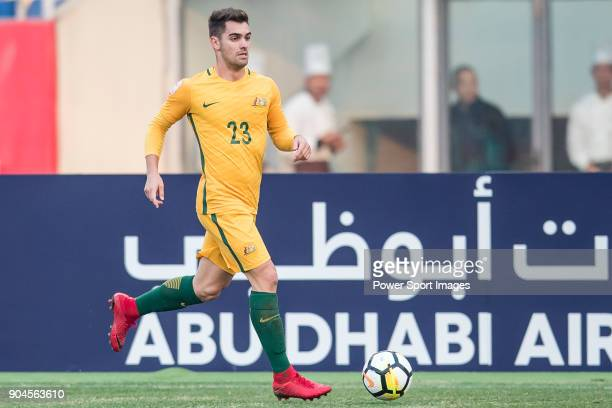Ben Garuccio of Australia in action during the AFC U23 Championship China 2018 Group D match between Australia and Syria at Kunshan Sports Center on...