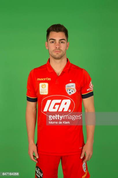 Ben Garuccio poses during the Adelaide United 2016/17 ALeague headshots session at the Adelaide United Training Centre on September 26 2016 in...