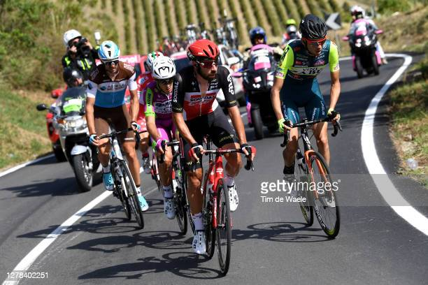 Ben Gastauer of Luxembourg and Team Ag2R La Mondiale / Alessandro Tonelli of Italy and Team Bardiani CSF Faizane / Thomas De Gendt of Belgium and...