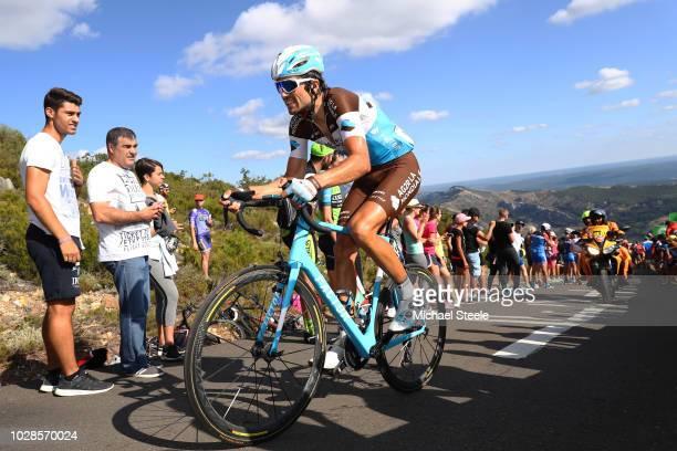 Ben Gastauer of Luxembourg and Team AG2R La Mondiale / Alto de la Camperona / Fans / Public / during the 73rd Tour of Spain 2018, Stage 13 a 174,8km...