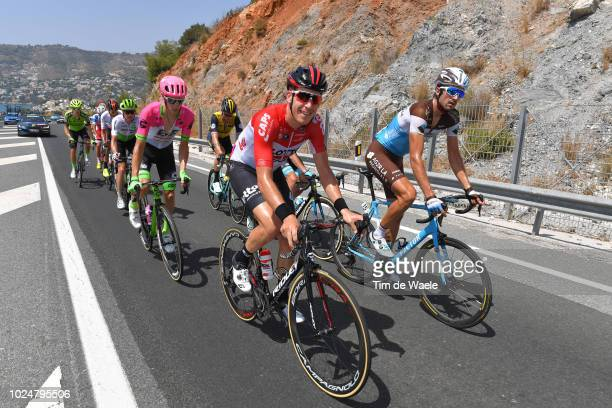 Ben Gastauer of Luxembourg and Team AG2R La Mondiale / Jelle Wallays of Belgium and Team Lotto Soudal / during the 73rd Tour of Spain 2018 Stage 4 a...