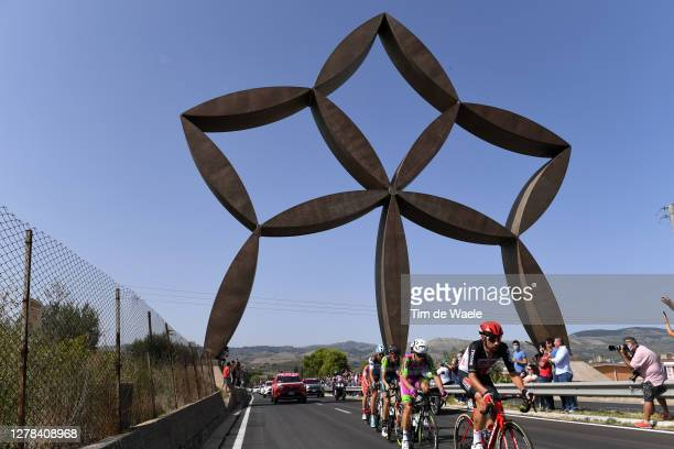 Ben Gastauer of Luxembourg and Team Ag2R La Mondiale / Mattia Bais of Italy and Team Androni Giocattoli - Sidermec / Alessandro Tonelli of Italy and...