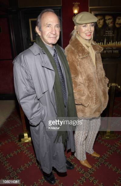 Ben Gazzara wife Elke Krivat during Gangs of New York World Premiere at Ziegfeld Theater in New York City New York United States