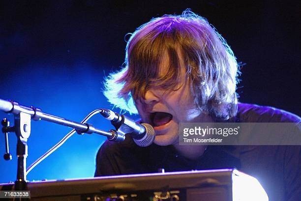 Ben Gibbard and Death Cab for Cutie perform in support of the bands 'Plans' release at the Greek Theater on August 11 2006 in Berkeley California