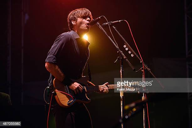Ben Gibbard of Death Cab for Cutie performs onstage during the 2015 Budweiser Made in America Festival at Benjamin Franklin Parkway on September 5...