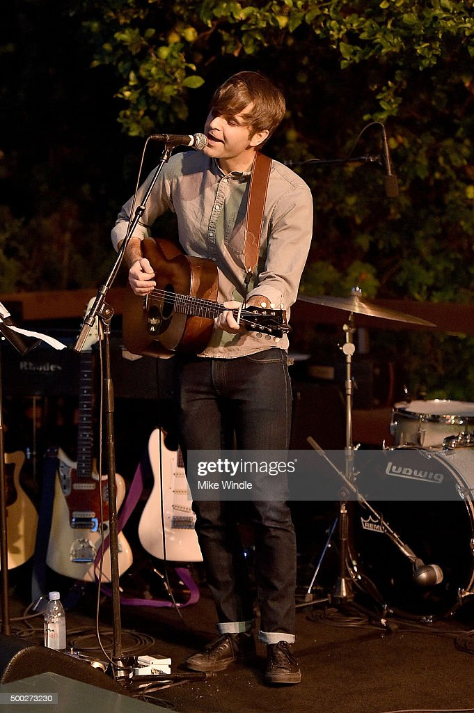 Ben Gibbard of Death Cab For Cutie performs onstage during the MusiCares house concert with Ben Gibbard, St. Vincent and The War On Drugs on December 6, 2015 in Pasadena, California.