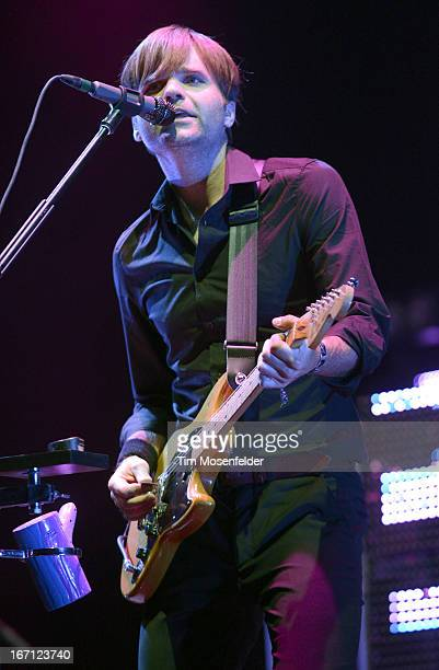 Ben Gibbard of The Postal Service performs as part of the 2013 Coachella Valley Music & Arts Festival at the Empire Polo Field on April 20, 2013 in...
