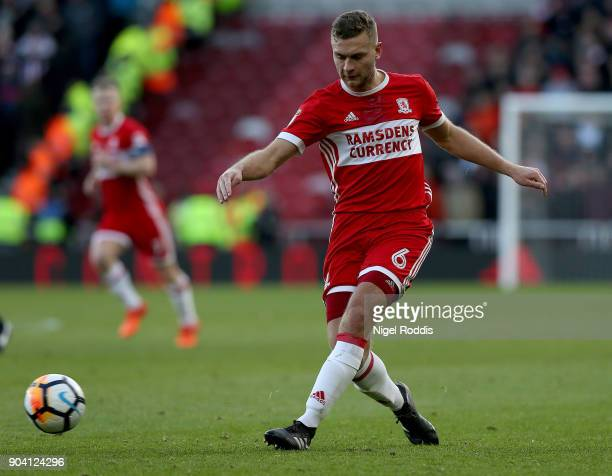 Ben Gibson of Middlesbrough during The Emirates FA Cup Third Round match between Middlesbrough and Sunderland at the Riverside Stadium on January 6...