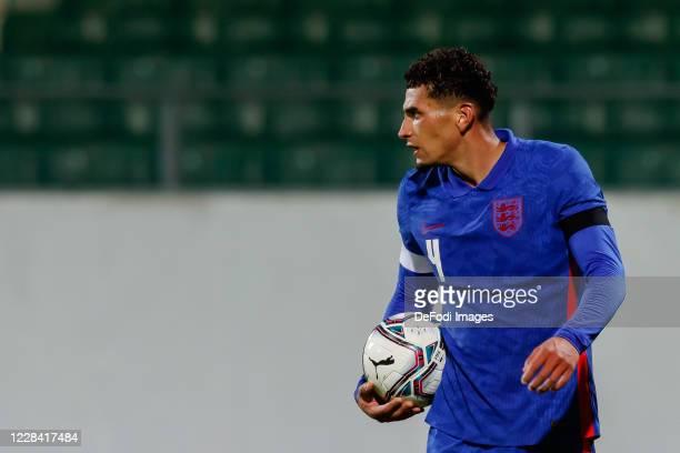 Ben Godfrey of England looks on during the UEFA Euro Under 21 Qualifier match between Austria U21 and England U21 at Keine Sorgen Arena on September...
