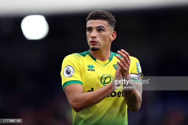 Ben Godfrey of Norwich City applauds fans following defeat in the Premier League match between Crystal Palace and Norwich City at Selhurst Park on...