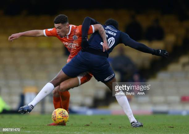 Ben Godfrey of Shrewsbury Town and Nile Ranger of Southend United during the Sky Bet League One match between Southend United and Shrewsbury Town at...