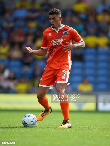 Ben Godfrey of Shrewsbury Town during the Sky Bet League One match between Oxford United and Shrewsbury Town at Kassam Stadium on August 26 2017 in...