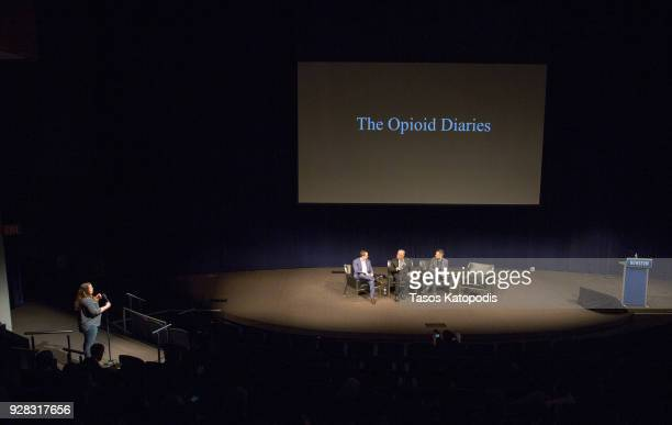 Ben Goldberger Times Assistant Managing Editor James Nachtwey and Paul Moakley at the Newsuem TIME Presents The Opioid Diaries With James Nachtwey on...
