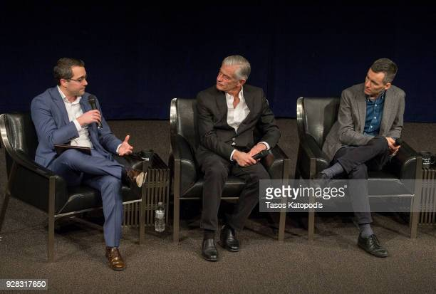 Ben Goldberger Times Assistant Managing Editor Photographer James Nachtwey and Paul Moakley at the Newsuem TIME Presents The Opioid Diaries With...