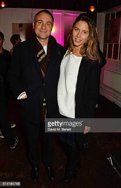 Ben Goldsmith and Jemima Jones attend the ES Magazine 'Young London' party with Converse at Bistrotheque on March 7 2016 in London England
