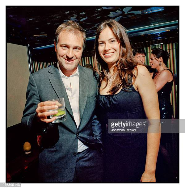 Ben Goldsmith and Lady Frederick Windsor are photographed at 5 Hertford Street which is home to the nightclub Loulou's for Vanity Fair Magazine on...