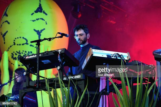 Fans greet MGMT as they arrive on stage at Somerset House Summer Series on July 9 2018 in London England