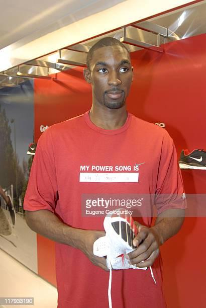 Ben Gordon during Star Athletes Converge on Niketown for Retail Debut of Nike iPod Sports Kit July 13 2006 at Niketown in New York City New York...