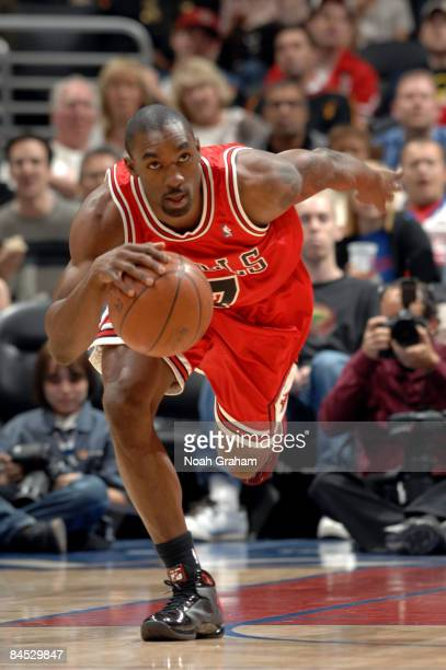 Ben Gordon of the Chicago Bulls brings the ball up the court during a game against the Los Angeles Clippers at Staples Center January 28 2009 in Los...
