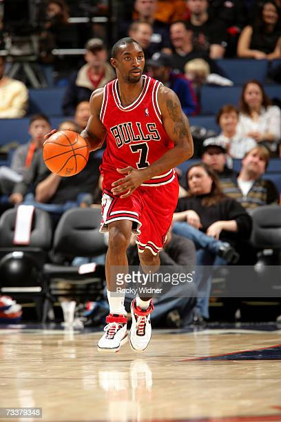 Ben Gordon of the Chicago Bulls drives against the Golden State Warriors on February 9 2007 at Oracle Arena in Oakland California The Warriors won...
