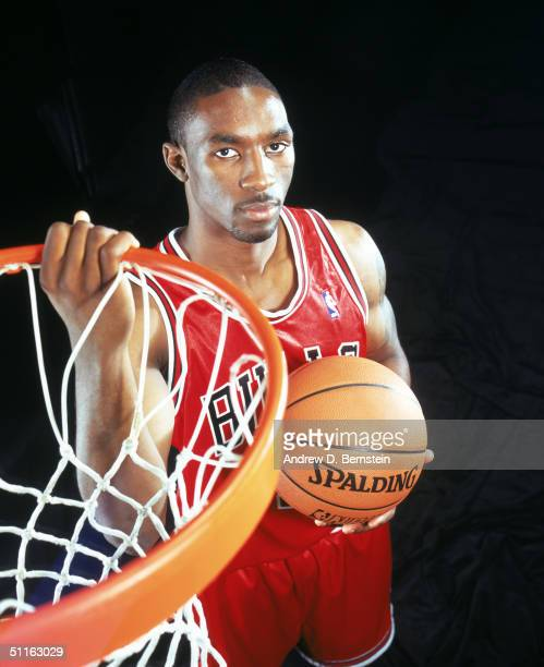Ben Gordon of the Chicago Bulls poses for a portrait during the 2004 NBA Rookie Shoot at Madison Square Garden Training Facility on August 2, 2004 in...